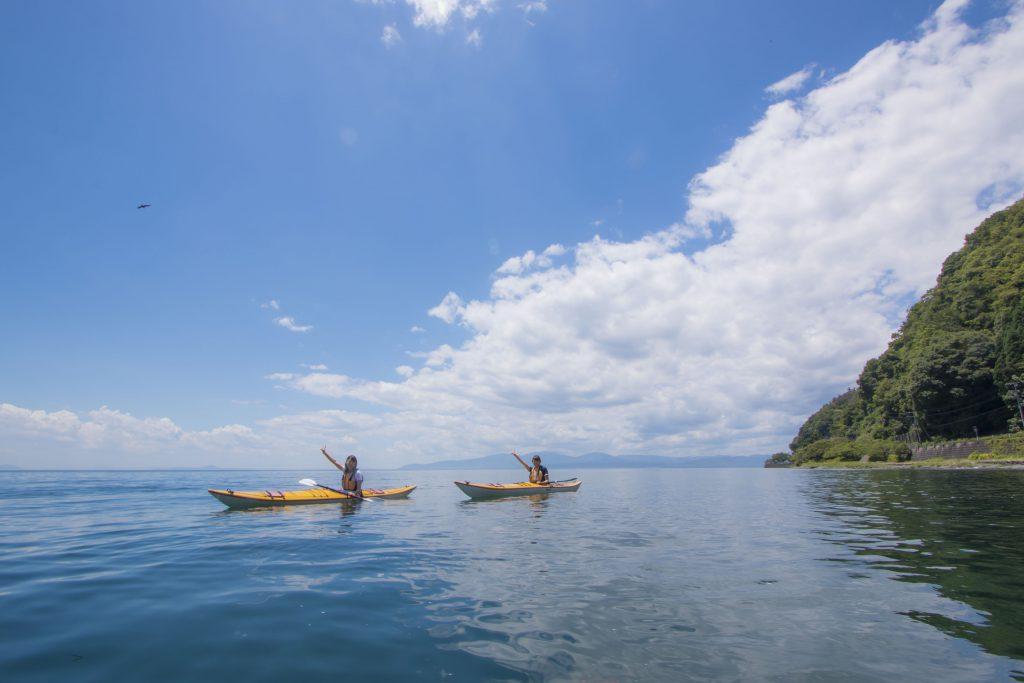 體驗皮划艇(可眺望奧琵琶湖的旅館 TUDURAO)